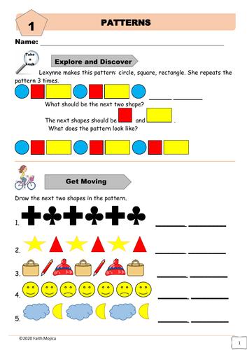 Patterns Worksheet