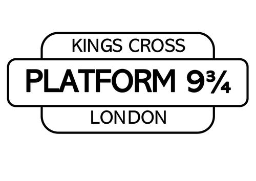 Platform 9 3/4 display sign