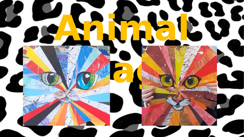 Animal Collage Art Powerpoint