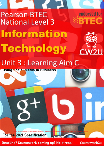2021 BTEC IT Level 3 - DISTINCTION* Unit 3 Learning aim C