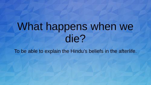 Hindus belief in the afterlife