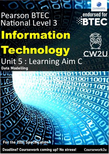 2021 BTEC IT Level 3 - DISTINCTION* Unit 5 Learning aim C