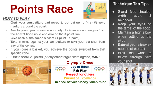 Sports Activity Resource Cards