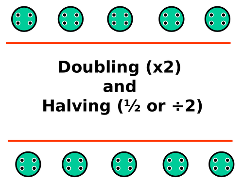 Doubling and Halving Buttons