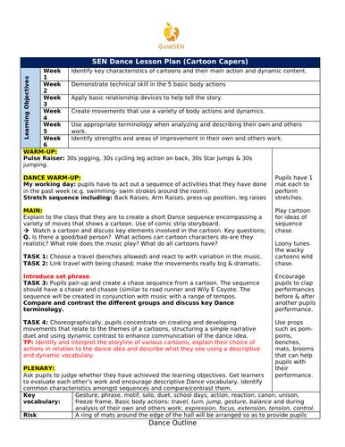 SEN Dance Lesson Plan