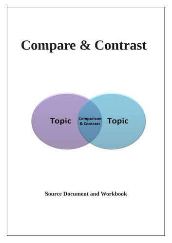 Functional Skills English - Compare and Contrast Reading Question. 13 Page PPT & Workbook