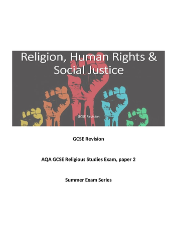 AQA Religious Studies Revision; Religion, Human Rights & Social Justice