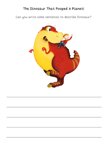 The Dinosaur That Pooped A Planet worksheets
