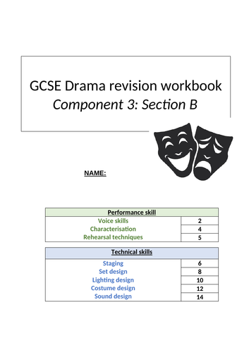 GCSE Drama Comp 3 revision booklet