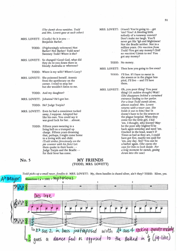 SWEENEY TODD - MY FRIENDS ANNOTATED SCORE