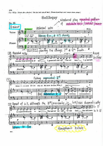 Soliloquy annotated score from Carousel