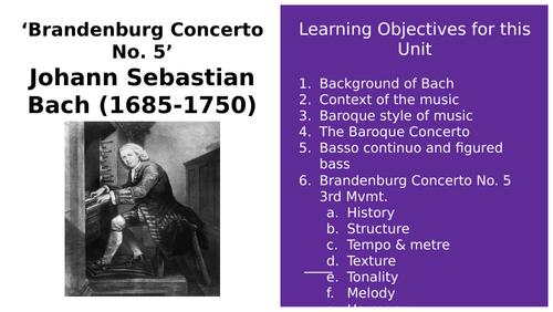 Bach's Brandenburg Concerto No.5 FULL ANALYSIS PowerPoint