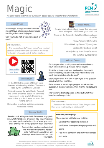 Magic! Primary Family Home Learning Sheet