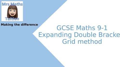 Expanding double brackets - grid method