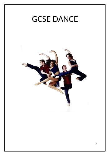 GCSE dance Homework / online workbook