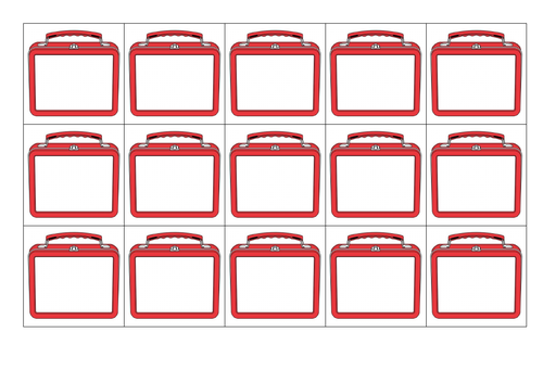 Lunch Box Name Labels