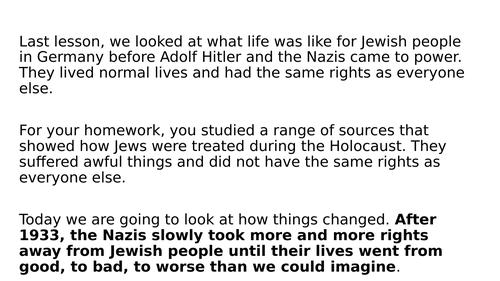Remote Lesson: Nuremberg Laws