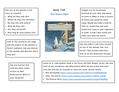 Book Talk - One Snowy Night