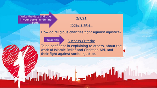 Religious Charities Fighting Injustice- Remote Learning