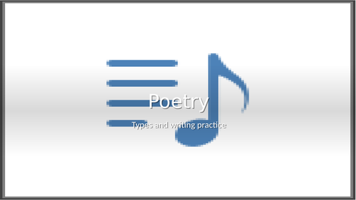 Poem types and writing Practice
