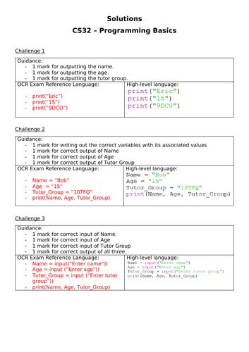 Python/Algorithm Challenges (inc. solutions)