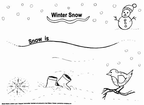 Snow Writing - Simple