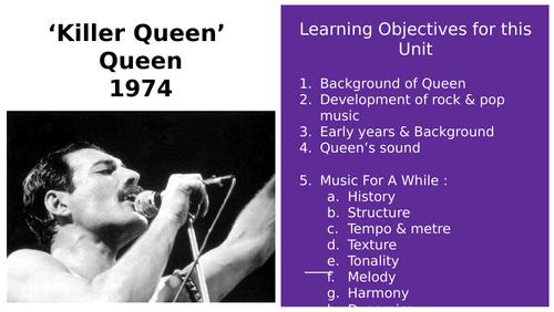 Killer Queen GCSE Full Analysis and annotated score Powerpoint
