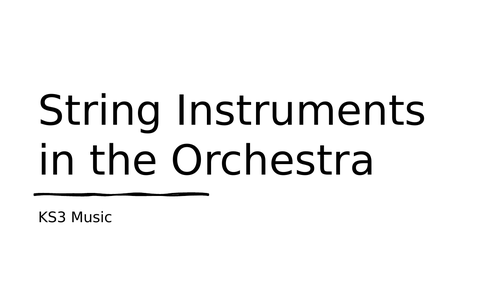 String Instruments for Online learning