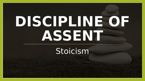 Stoic Discipline of Assent
