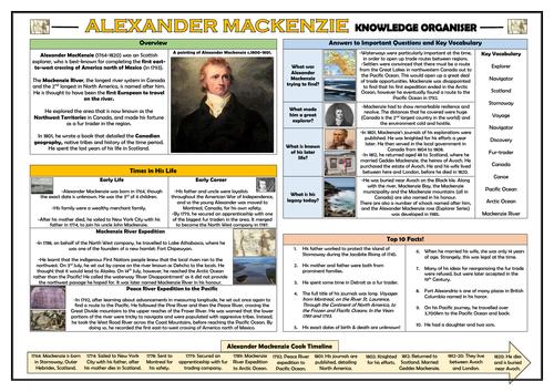 Alexander Mackenzie - Knowledge Organiser!