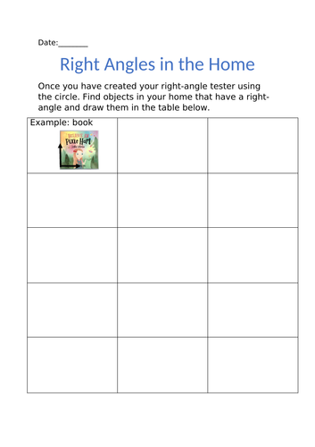 Finding right angles in everyday objects