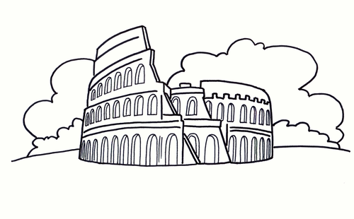 The Colosseum Colouring Sheet - Early Years