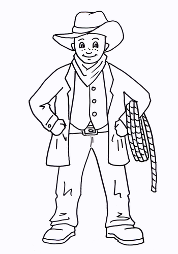Cowboy Colouring Sheet - Early Years