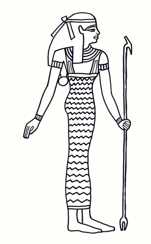 Egyptian Lady Colouring Sheet - Early Years