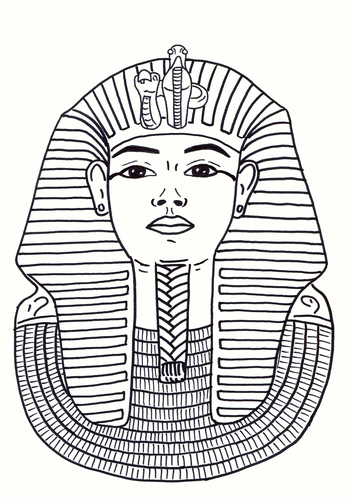 Egyptian Mask Colouring Sheet - Early Years