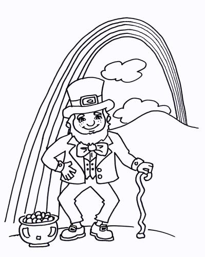 Irish Leprechaun Colouring Sheet - Early Years
