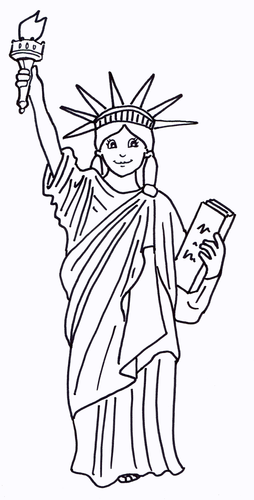The Statue of Liberty Colouring Sheet - Early Years