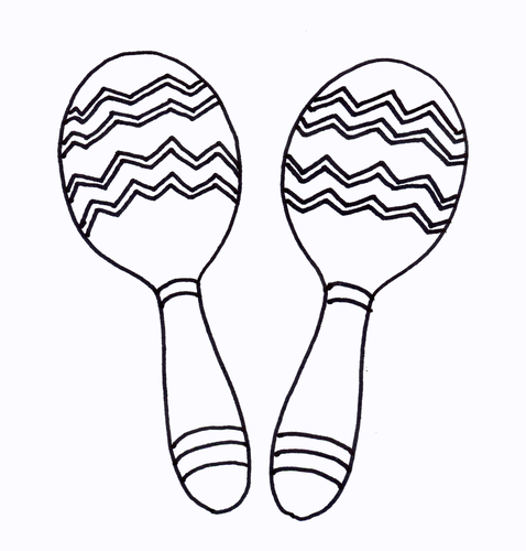 Maracas Colouring Sheet - Early Years