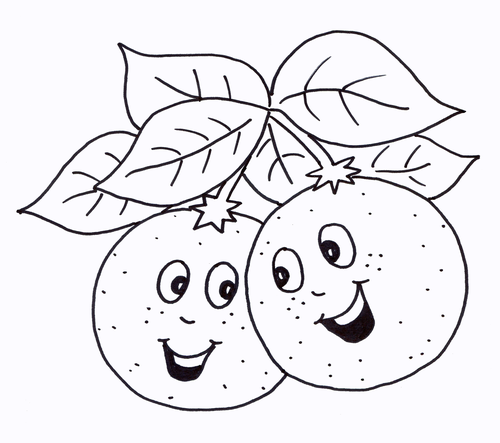 Oranges Colouring Sheet - Early Years