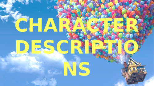 Writing a Character Description PPT