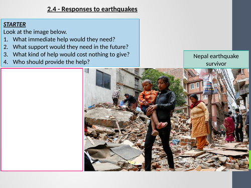 AQA GCSE Geography - 2.4 Responses to earthquakes