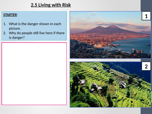 AQA GCSE Geography - 2.5 Living at risk
