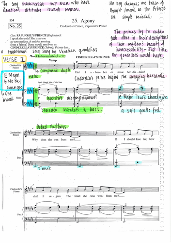 AGONY - Fully Annotated Score - INTO THE WOODS BY SONDHEIM