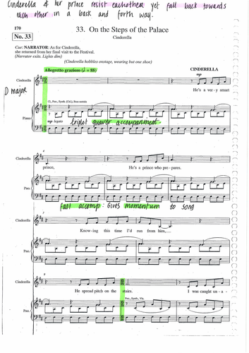 ON THE STEPS OF THE PALACE - INTO THE WOODS - ANNOTATED SCORE - SONDHEIM