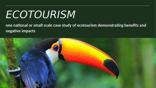 CCEA Ecotourism Case Study - Costa Rica
