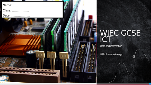 WJEC ICT Unit 3 - Storage and access of data