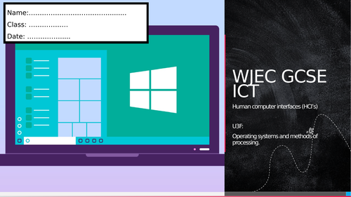 WJEC ICT- Unit 3: Operating systems