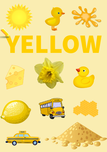 Colour Poster: Yellow