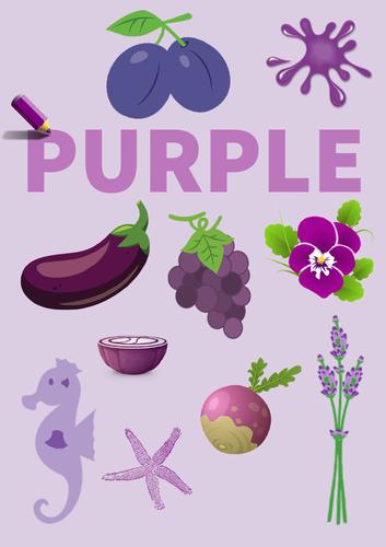Colour Poster: Purple