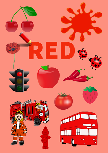 Colour Poster: Red